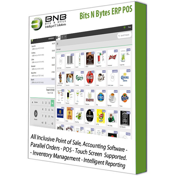 Point of Sale: Intelligent Point of Sale Accounting, Inventory & Stock  Control, all Inclusive Business Software (Bits N Bytes ERP)